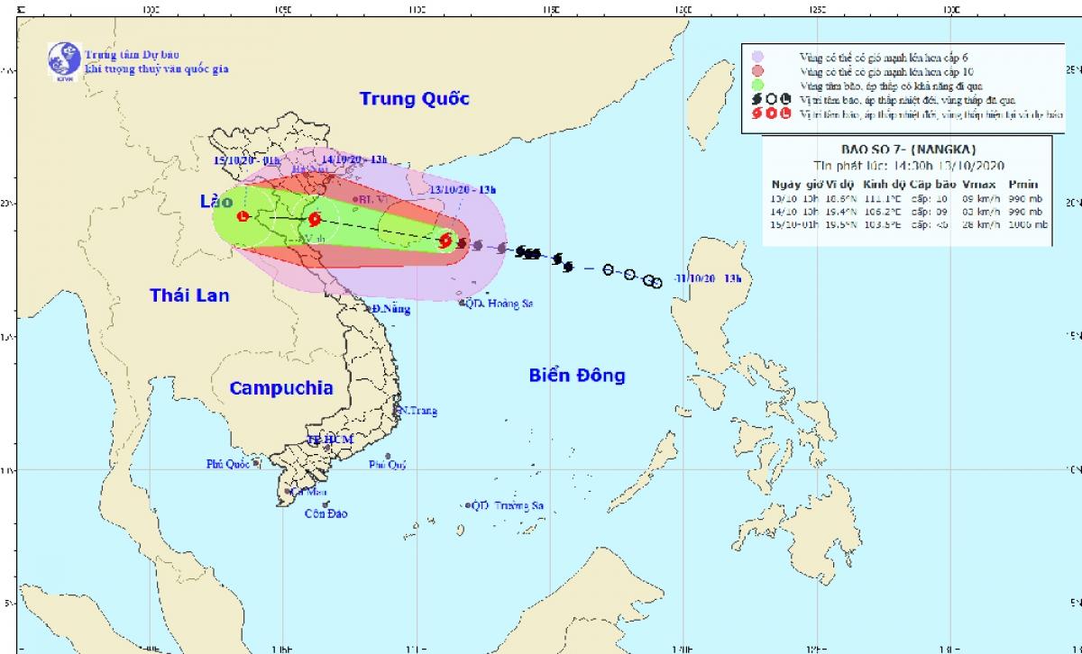 Công điện của Ban Chỉ huy PCLBTKCN tỉnh ứng phó với bão số 7