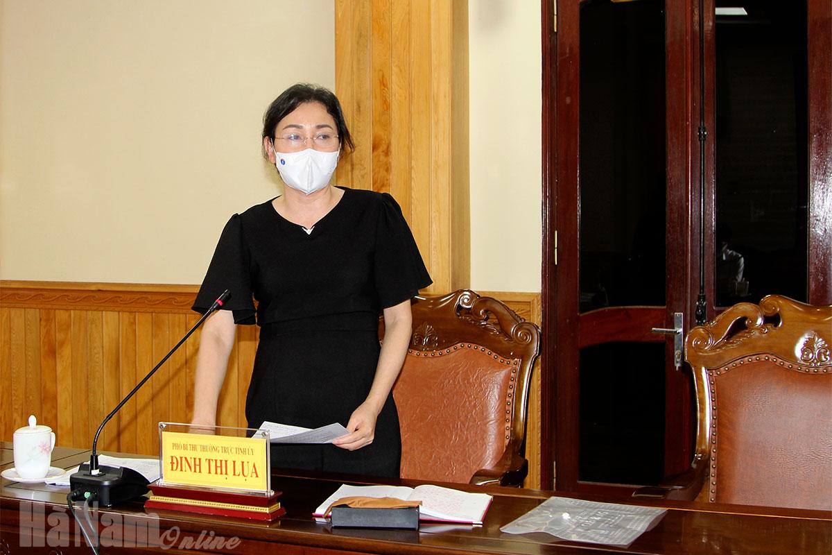 Thường trực Tỉnh ủy nghe đánh giá nhận định về diễn biến khả năng kiểm soát dịch bệnh Covid19 trên địa bàn tỉnh