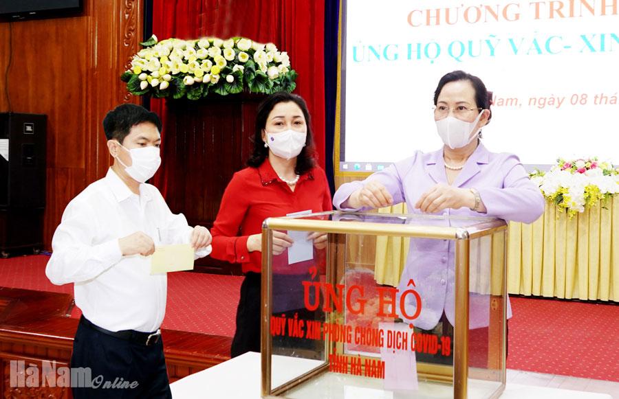 Hà Nam phát động ủng hộ Quỹ vắc xin phòng Covid19 tỉnh