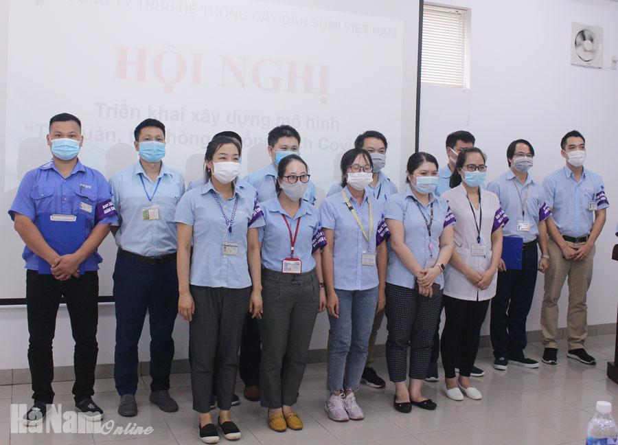 """Công ty TNHH Hệ thống Dây dẫn Sumi Việt Nam triển khai xây dựng mô hình """"Tự quản tự phòng chống Covid – 19"""""""